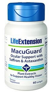MacuGuard Ocular Support with Saffron & Asthaxanthin - LIFE EXTENSION