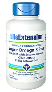 Super Omega 3 with EPA/DHA With Sesame Lignans Olive Extract, Krill & Astaxanthin - LIFE EXTENSION