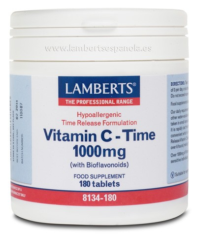 Vitamina C 1000mg. Time - LAMBERTS
