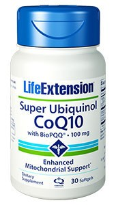 Super Ubiquinol CoQ10 with BioPQQ 100mg - LIFE EXTENSION