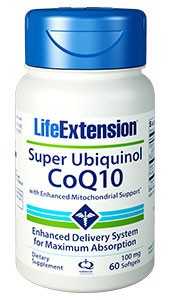 Super Ubiquinol CoQ10 With Enhanced Mitochondrial Support 100 mg - LIFE EXTENSION