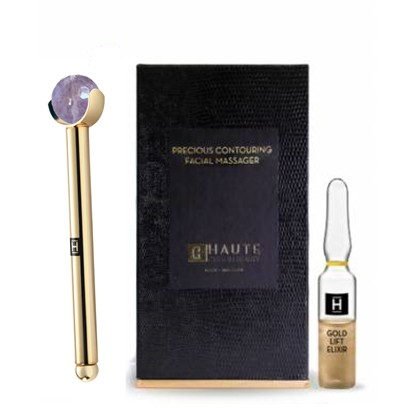 Gold Lift Elixir Precious Contouring Facial Massager - HAUTE CUSTOM BEAUTY