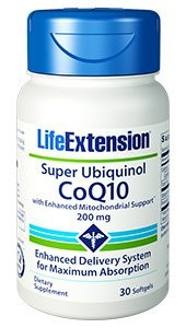 Super Ubiquinol CoQ10 With Enhanced Mitochondrial Support 200 mg - LIFE EXTENSION
